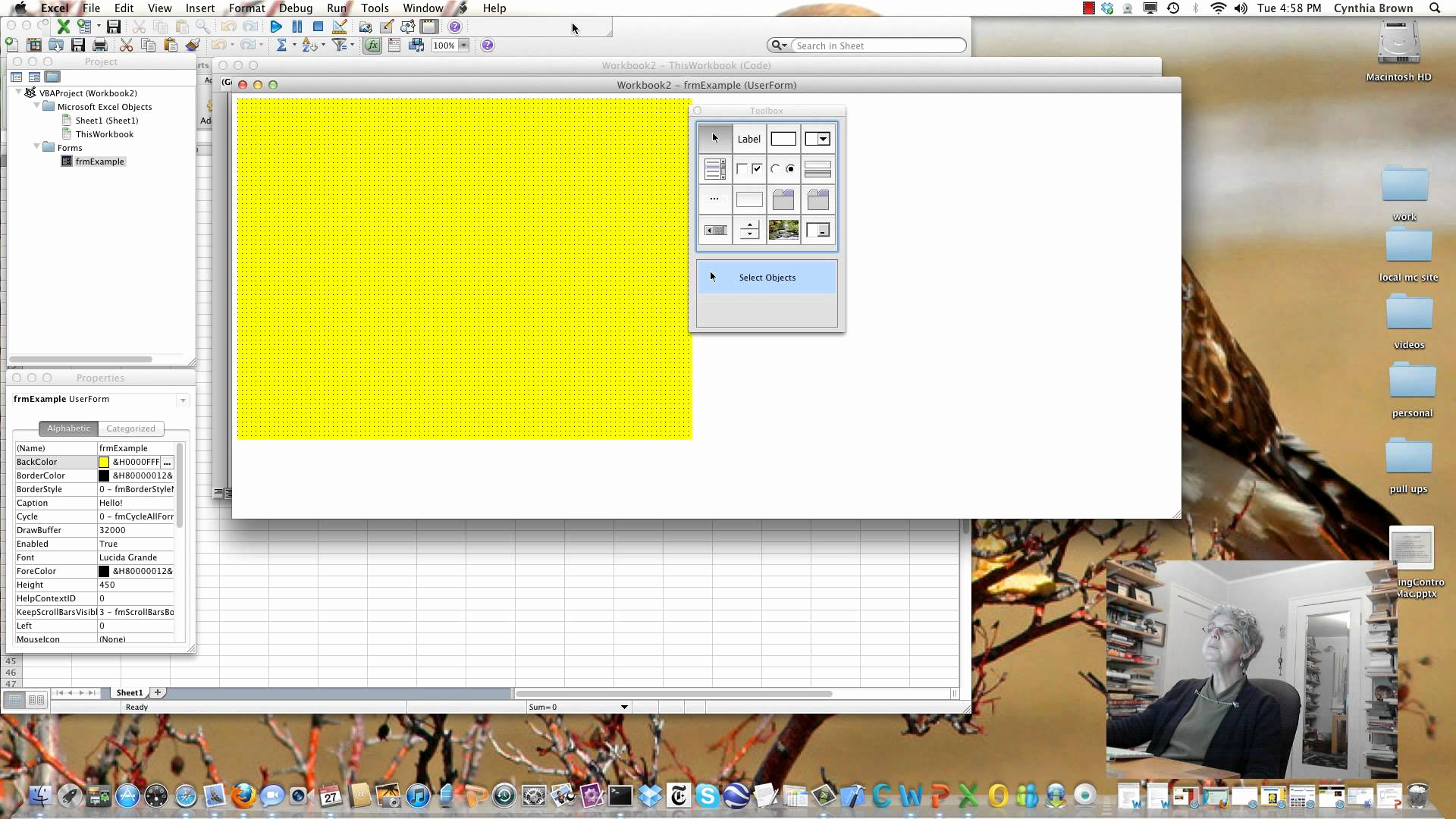 Excel Userform Spreadsheet Control With Excel Userform