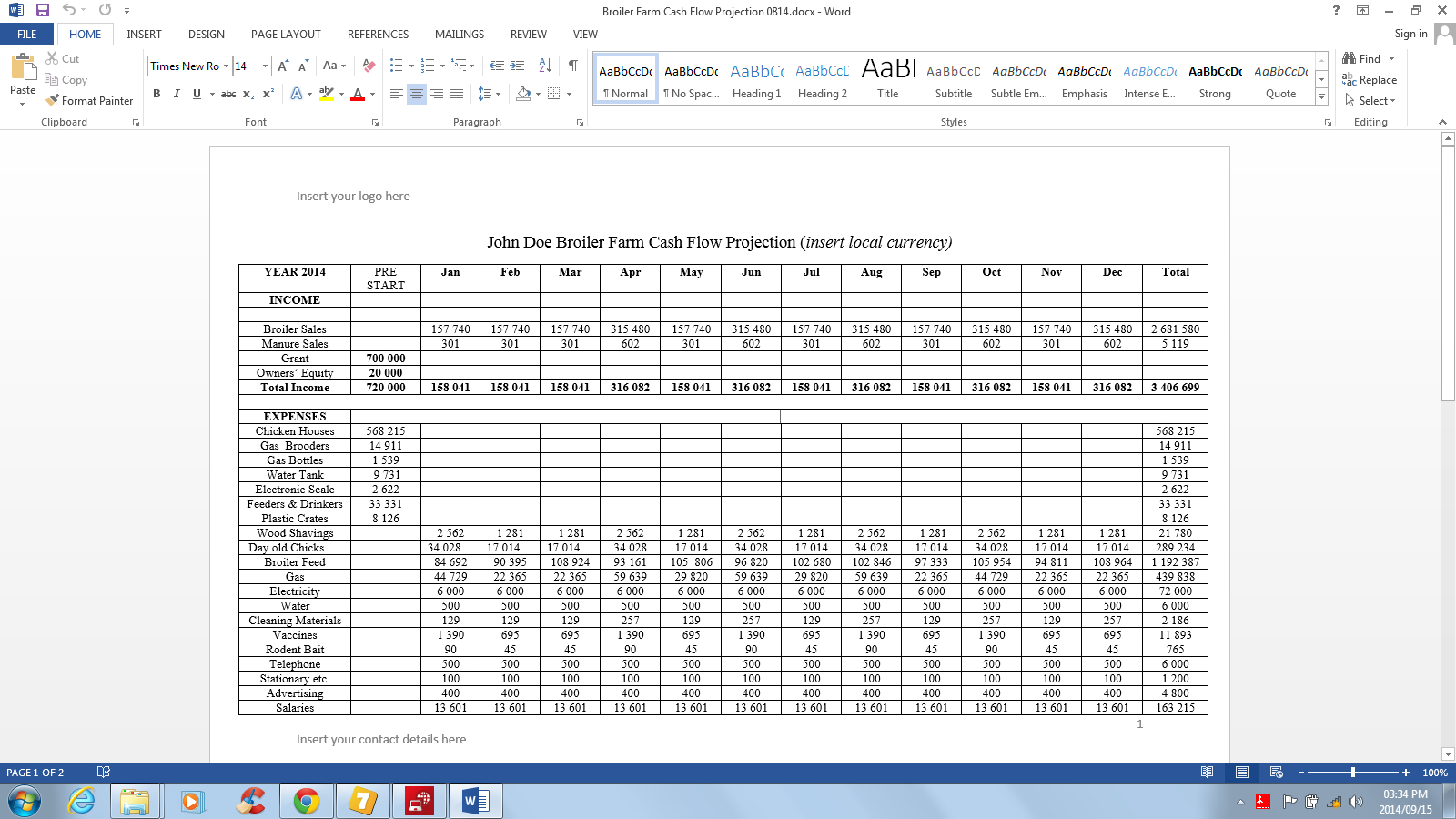 Farm Cash Flow Spreadsheet Spreadshee Farm Cash Flow Projection Dairy Farm Cash Flow