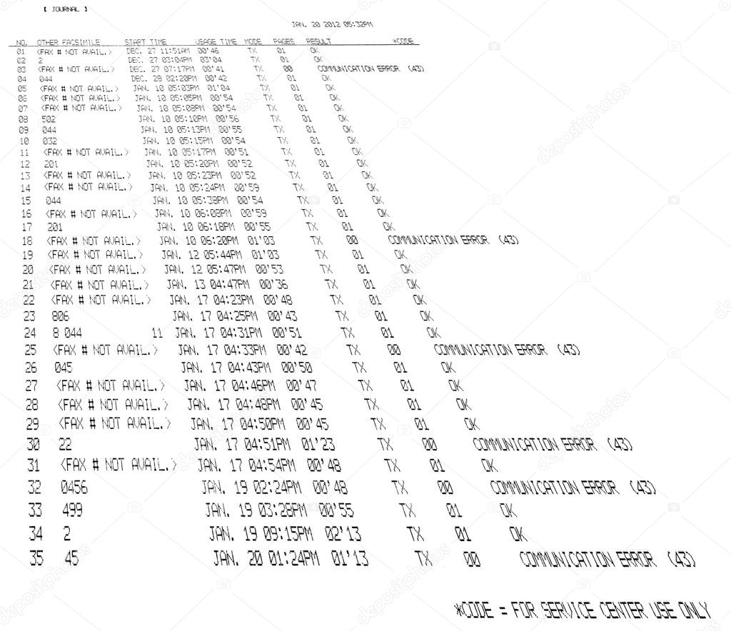 Fax Spreadsheet Throughout Printed Fax Spreadsheet