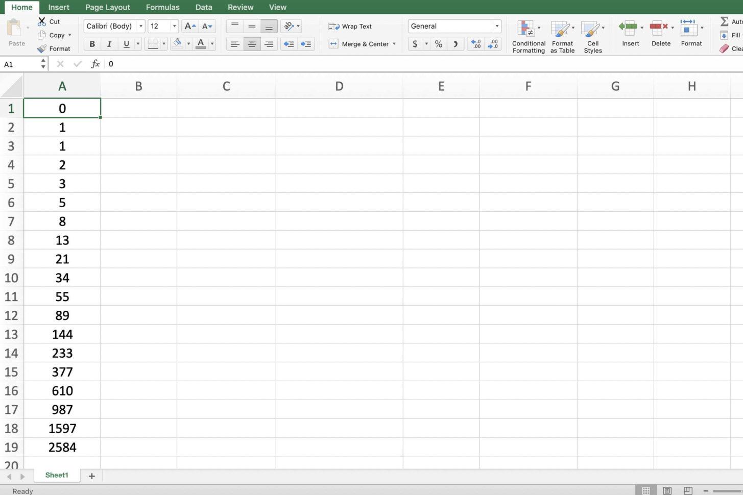 Fibonacci Excel Spreadsheet In How To Add Numbers In Excel Using A Formula Fibonacci Excel