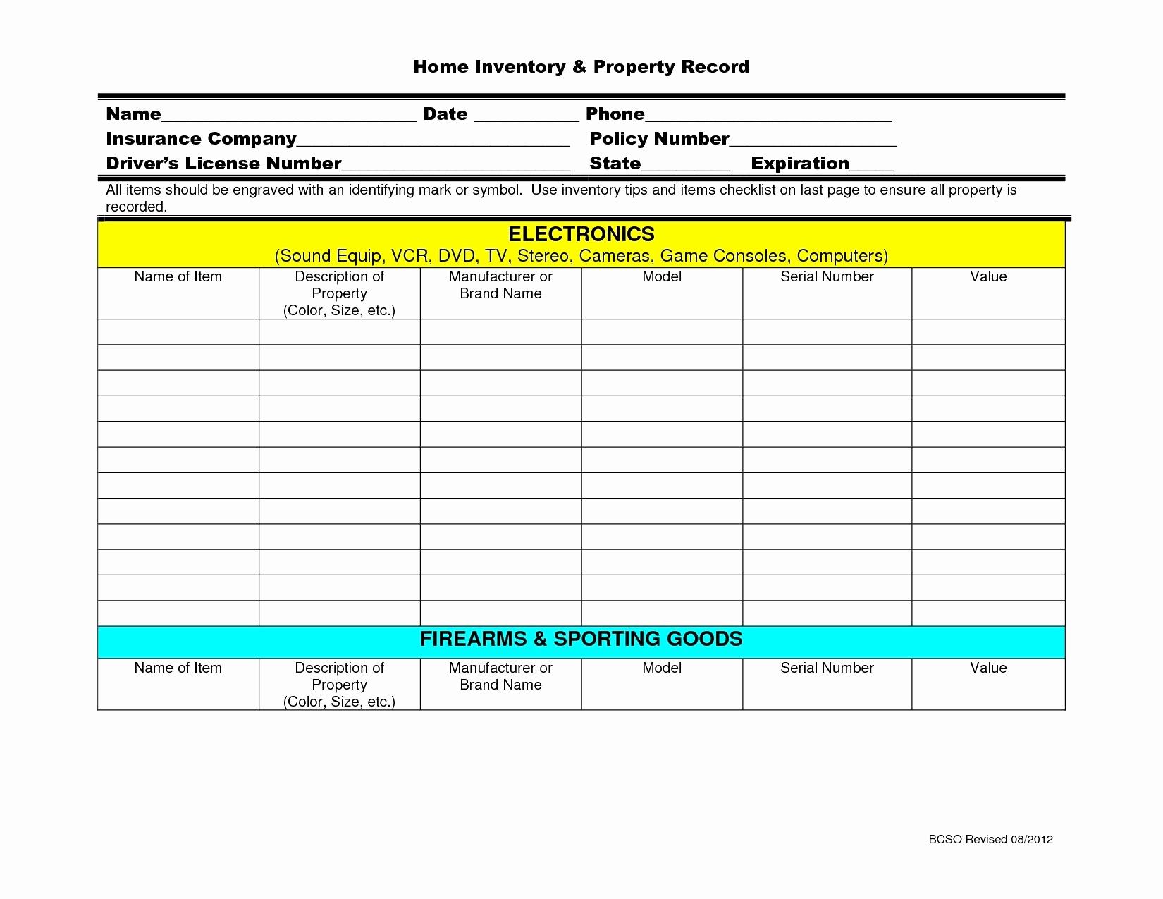 Firearms Inventory Spreadsheet Spreadshee Firearms
