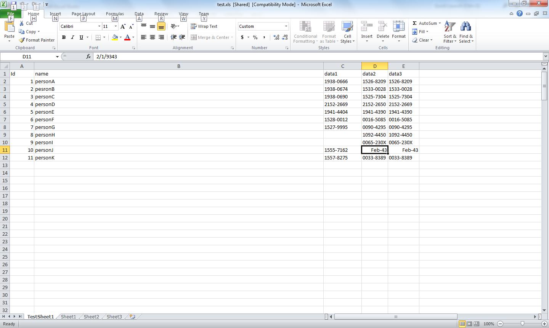 Formatting Excel Spreadsheets