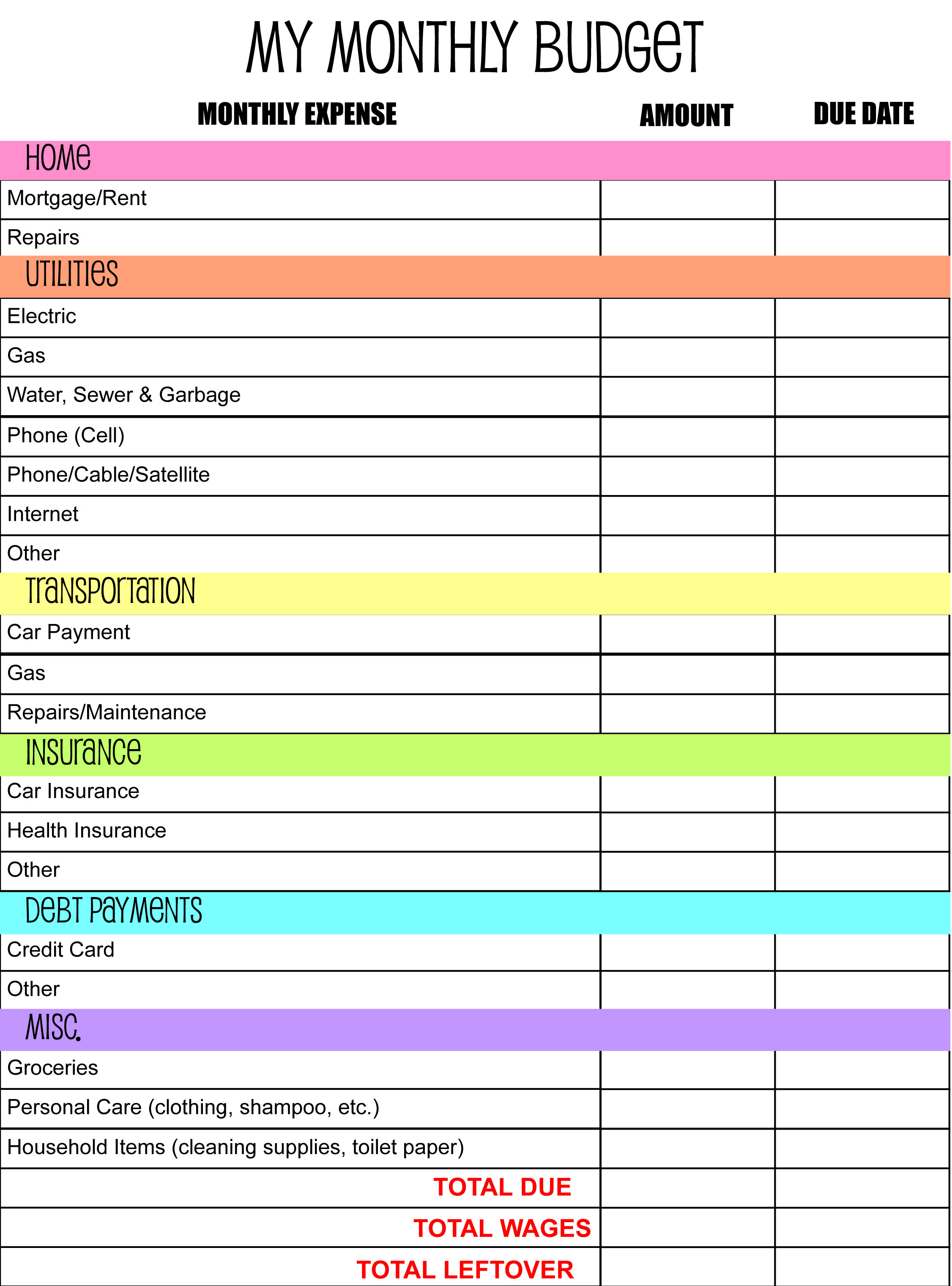 Free Budget Planner Spreadsheet Throughout Budget Planning