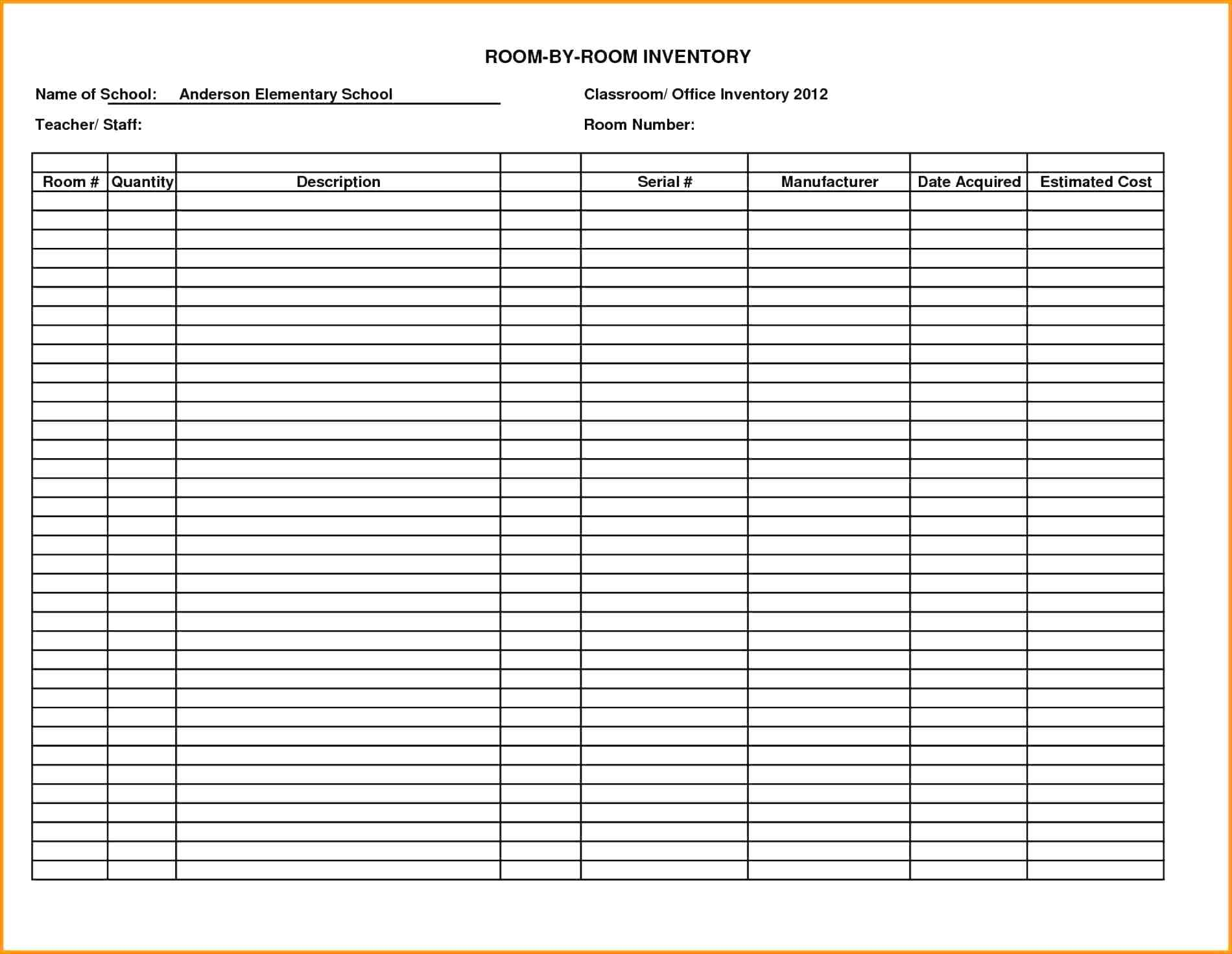 Free Spreadsheet For Craft Business In Inventory Worksheet
