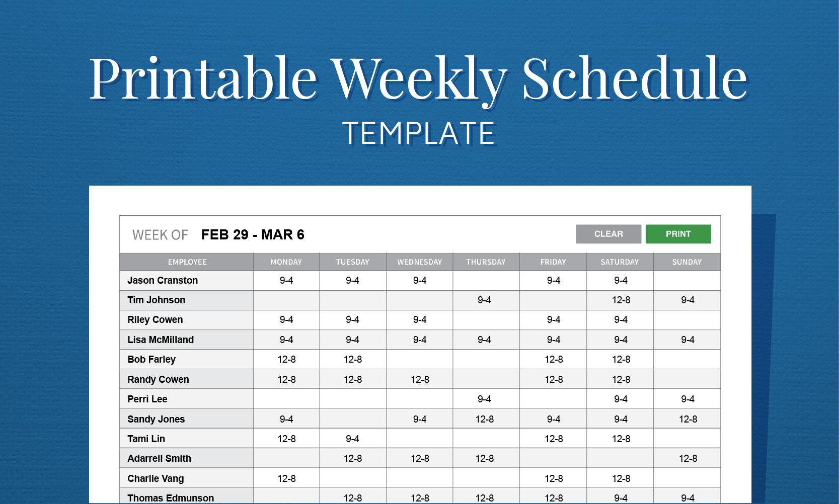 Free Staff Rota Spreadsheet Db Excel