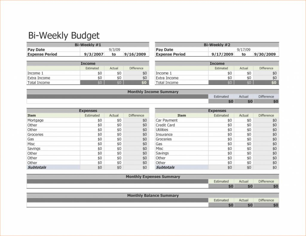 Free Weekly Budget Spreadsheet Spreadshee Free