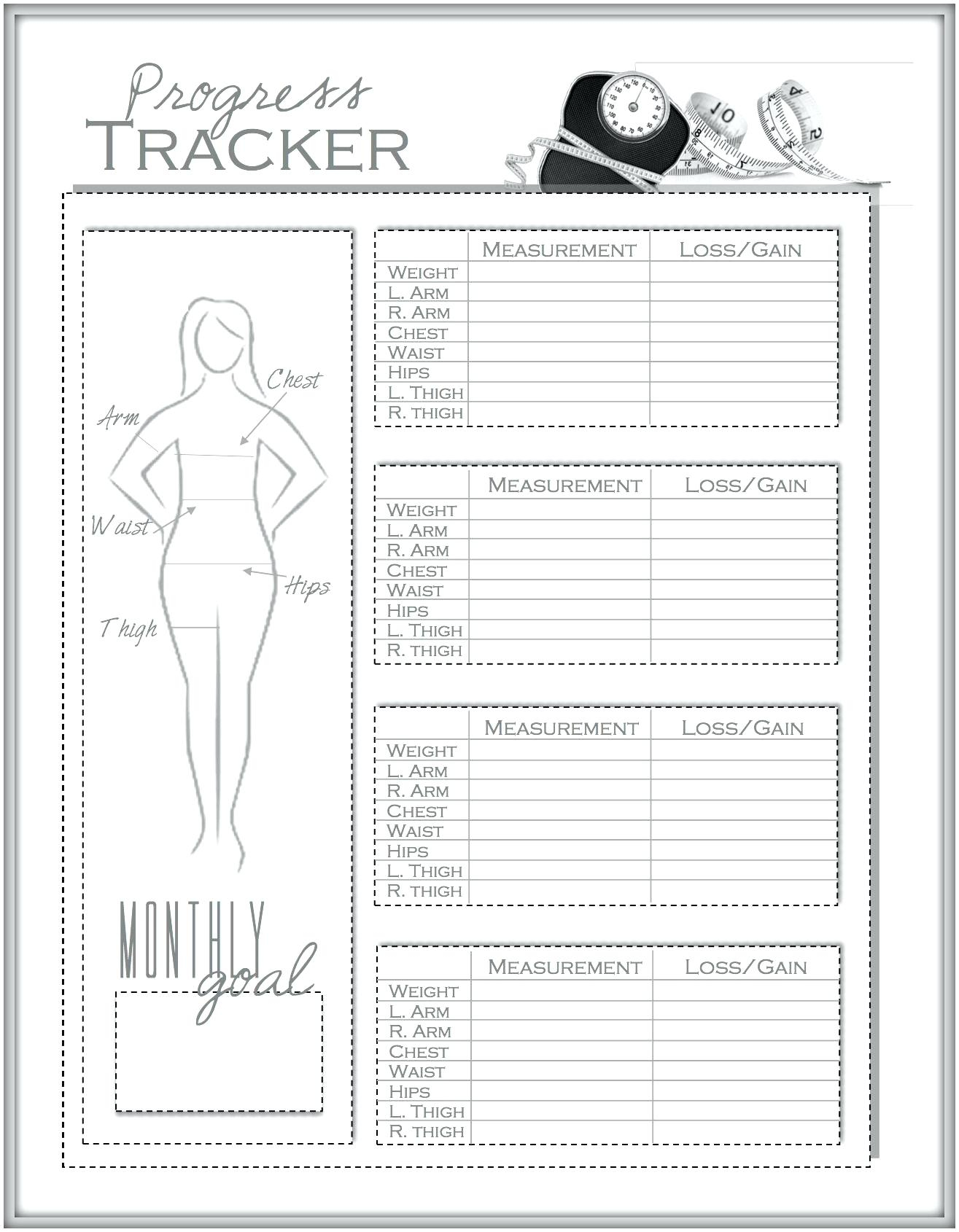 Free Weight Loss Spreadsheet Template With Template