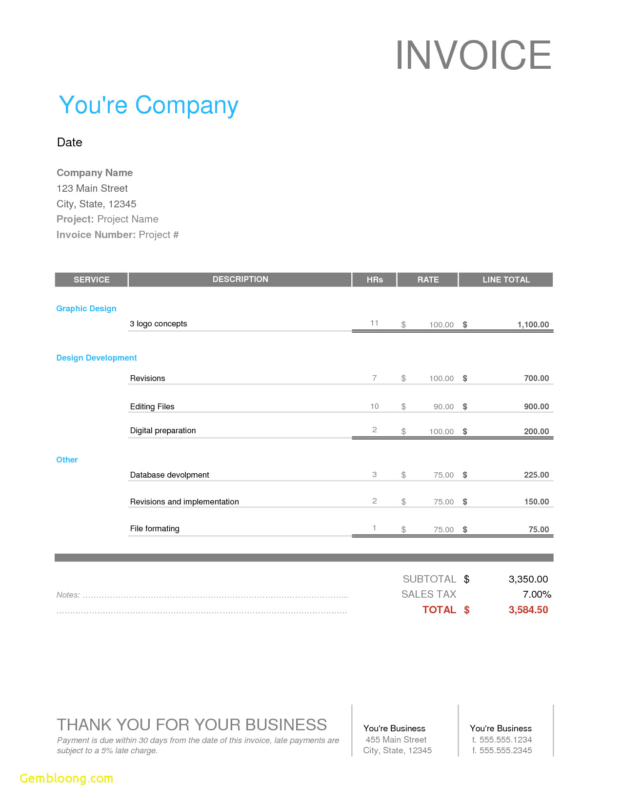 Freelance Excel Spreadsheet Design With Invoice Template
