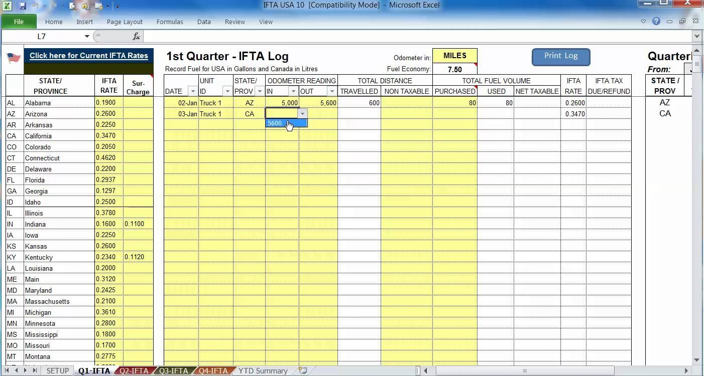 This Fuel Consumption Calculator Is An Excel Template To