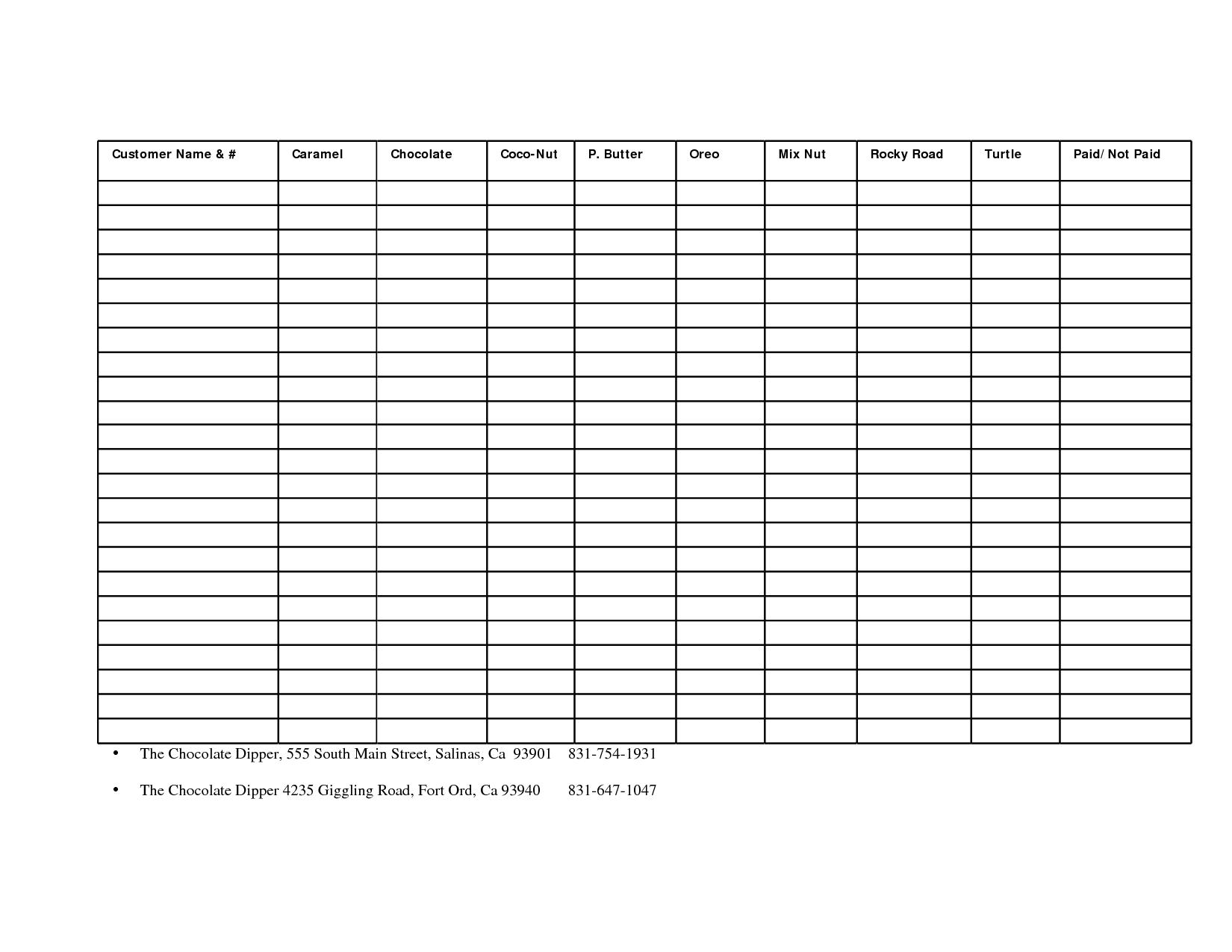 Fundraising Spreadsheet Template