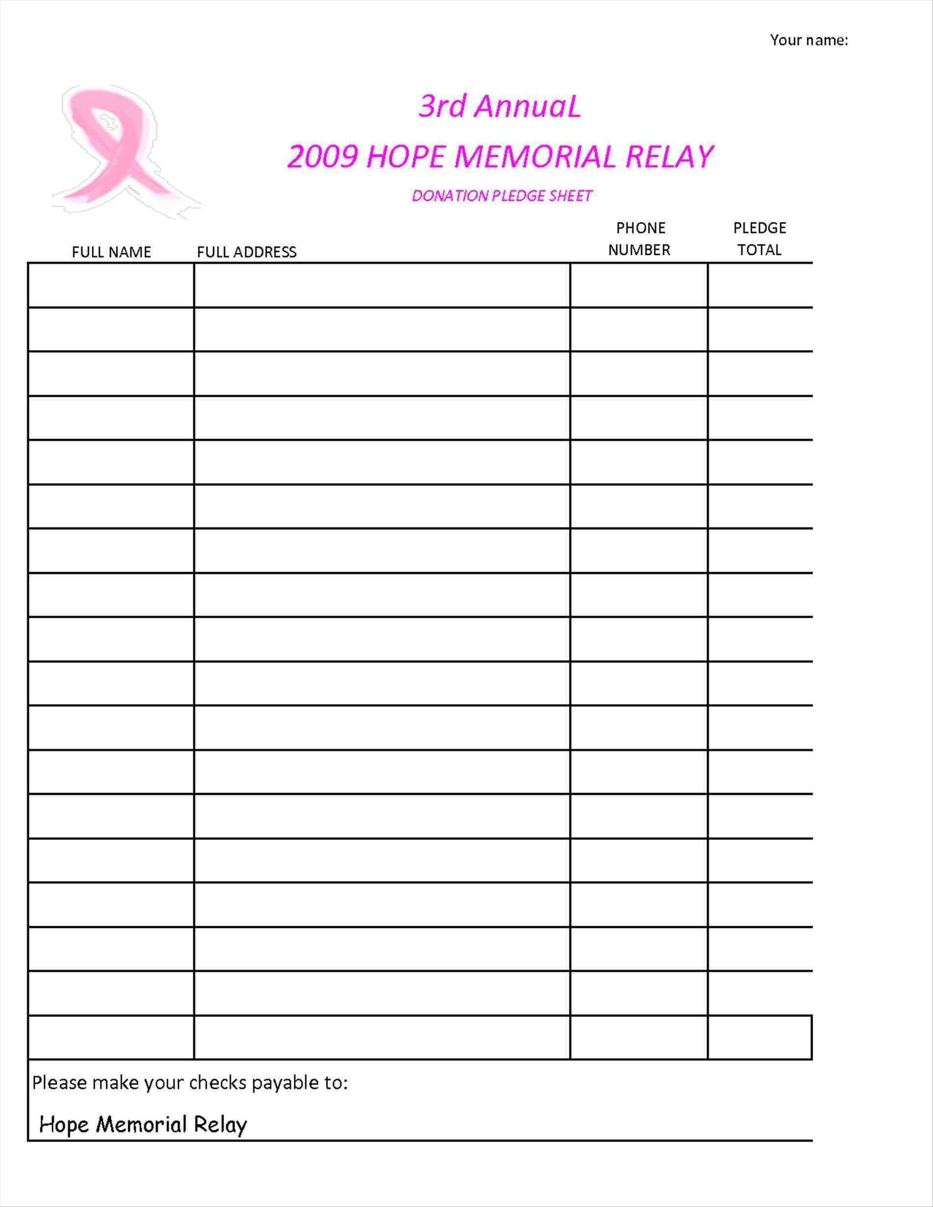 Fundraising Spreadsheet Spreadshee Fundraising Spreadsheet Excel Fundraising Event