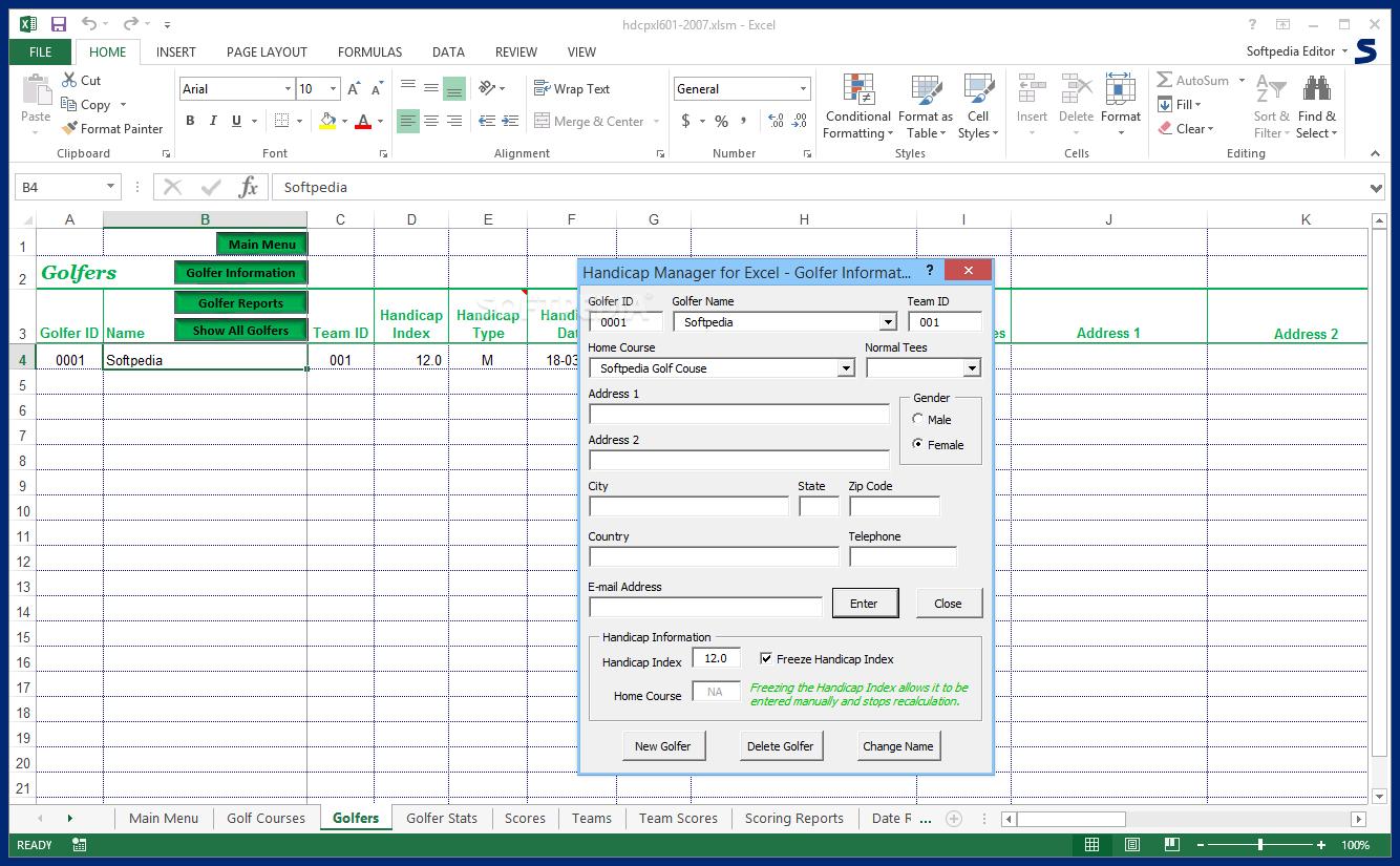 Golf Handicap Calculator Spreadsheet Db Excel