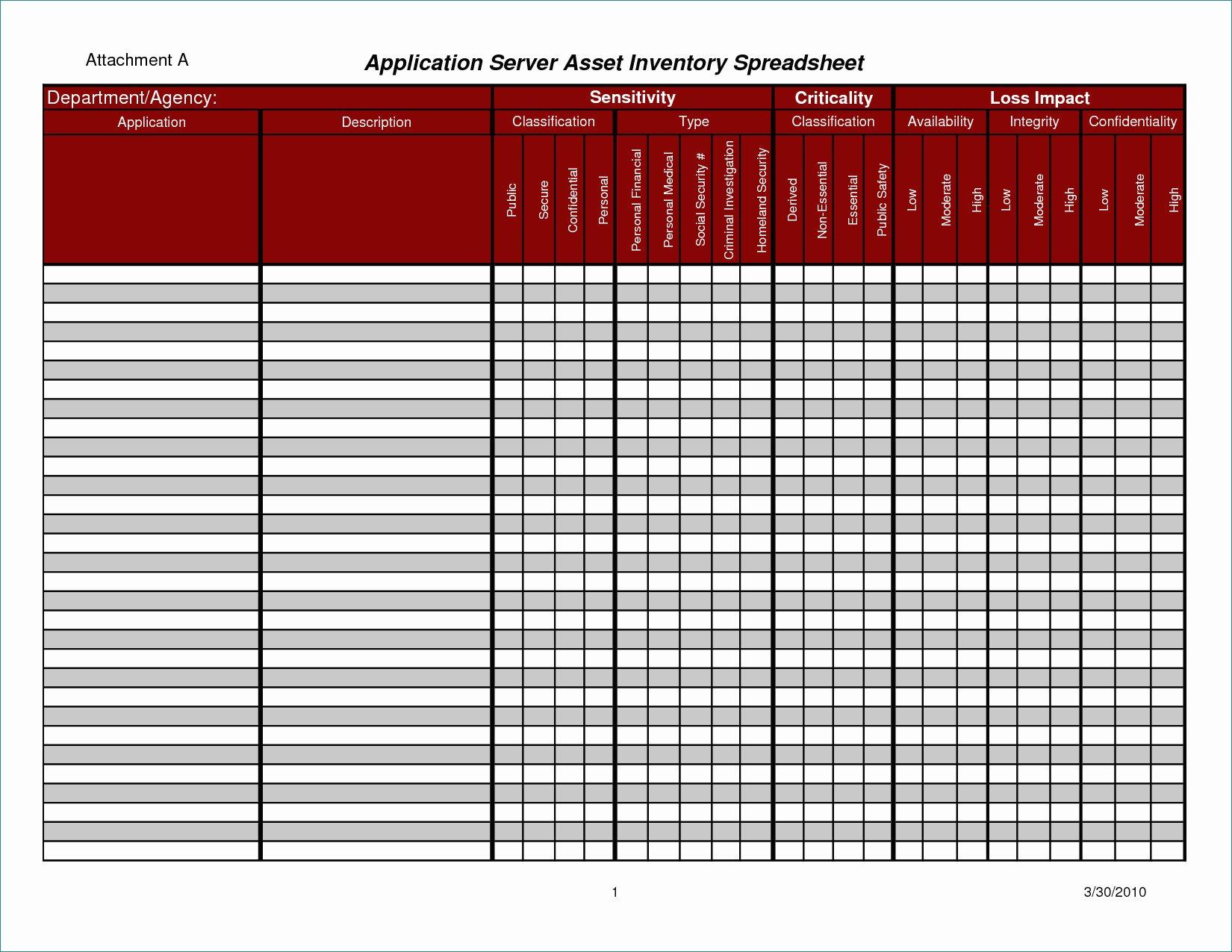 Hazardous Material Inventory Spreadsheet Spreadshee