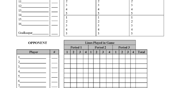 Hockey Stats Spreadsheet Template Printable Spreadshee
