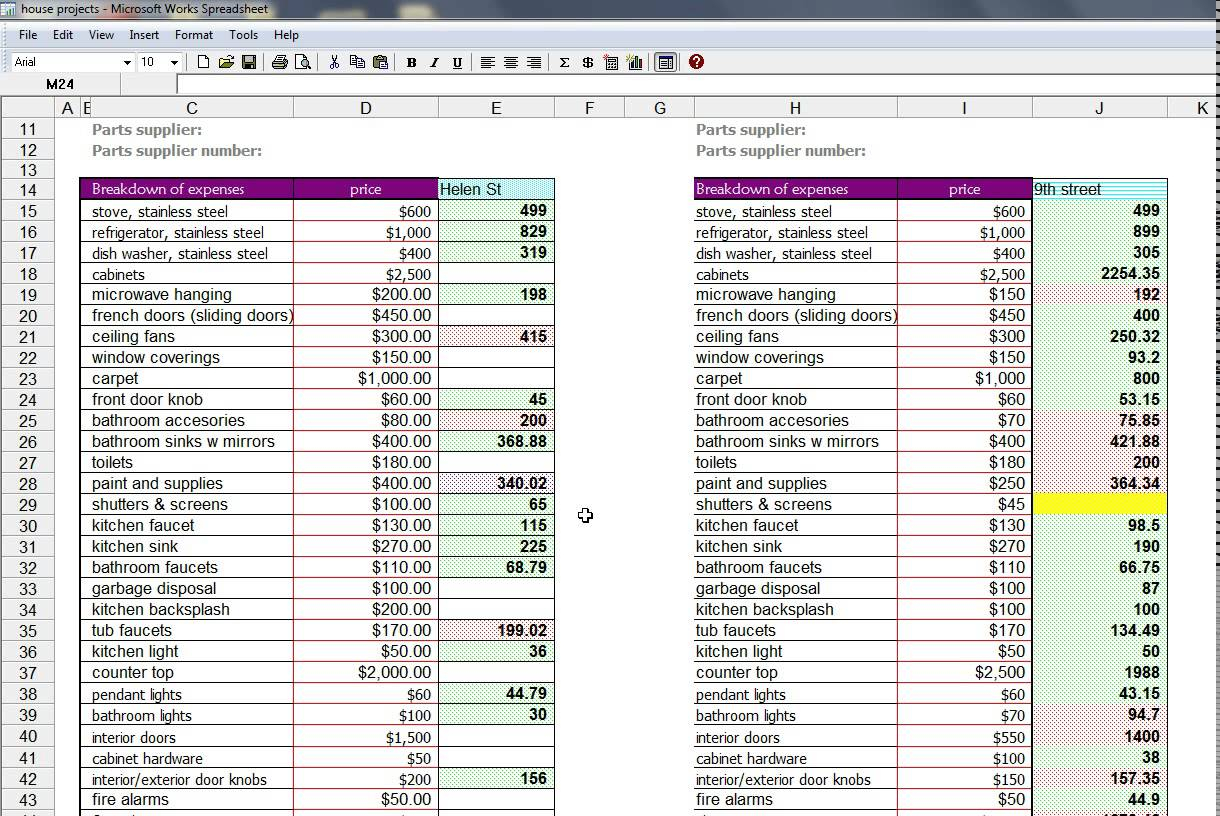 House Flip Spreadsheet Worksheet Db Excel