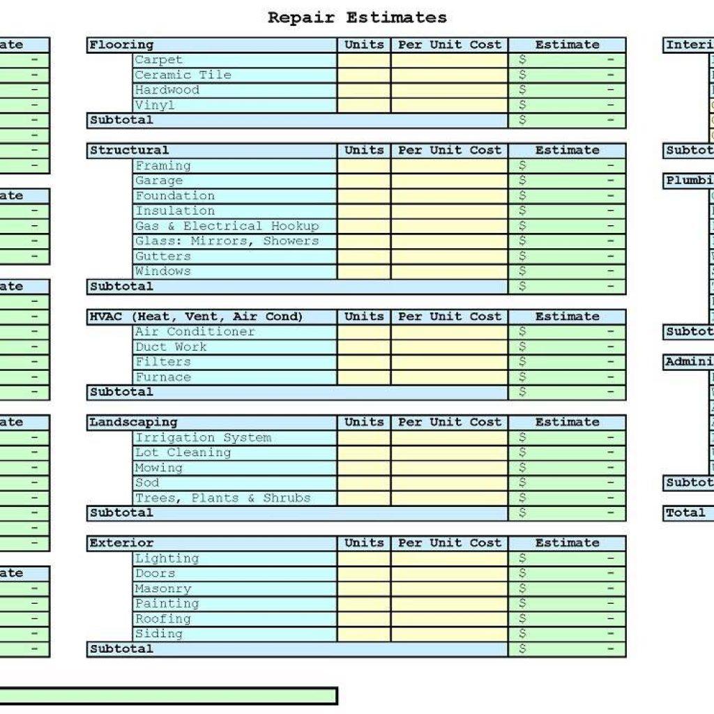 House Flip Spreadsheet Worksheet Spreadsheet Downloa House