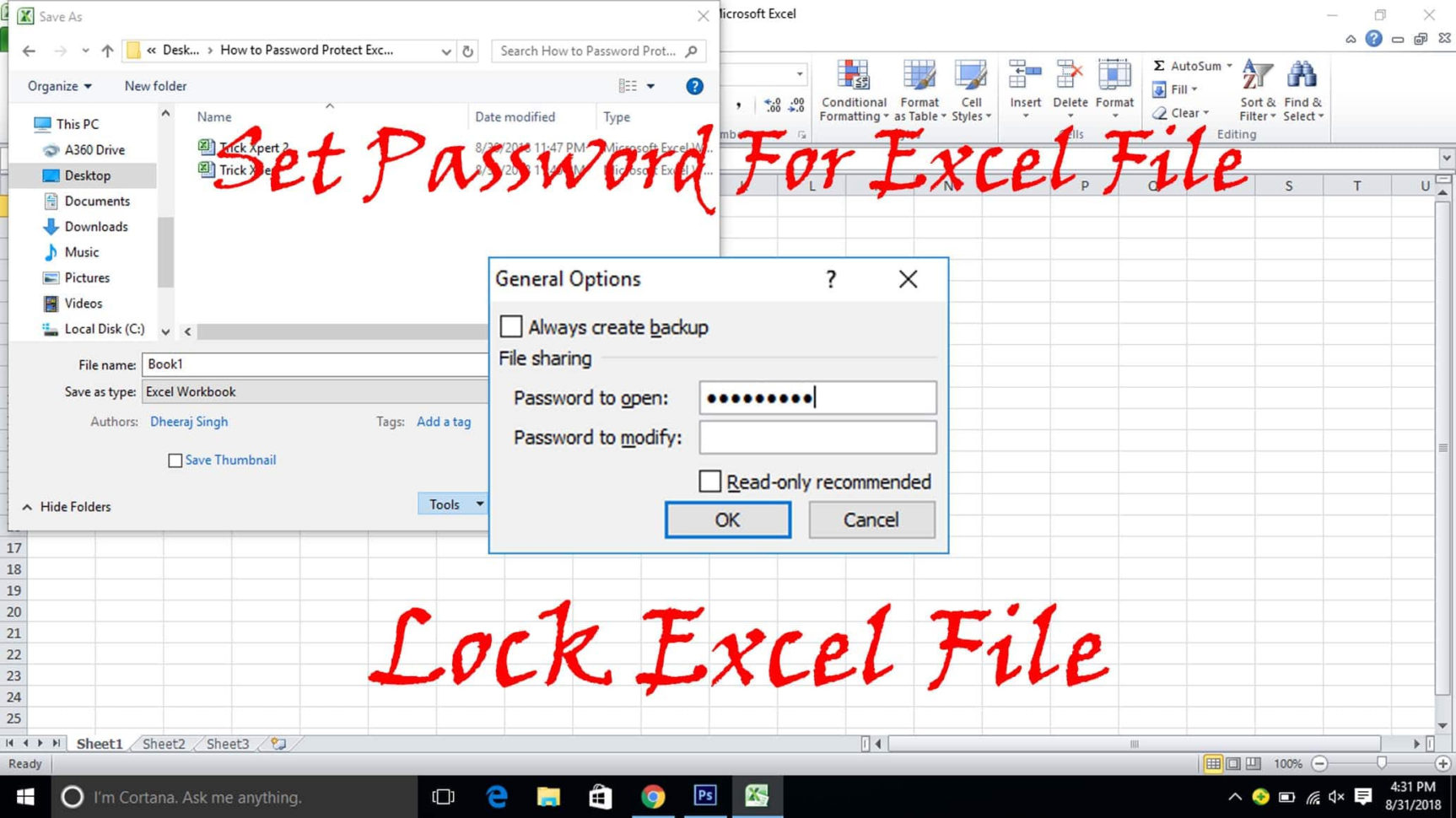 How Do You Password Protect An Excel Spreadsheet In How To