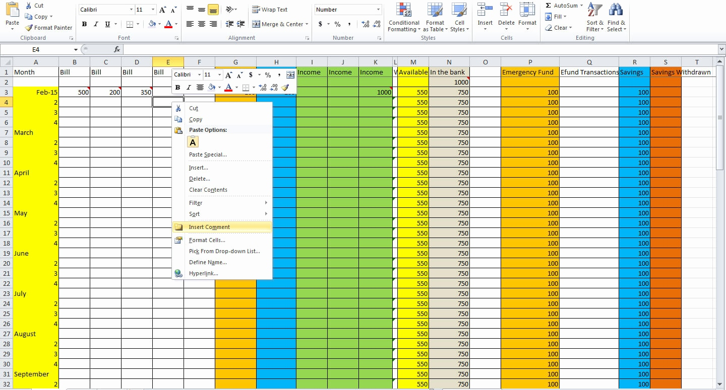 How To Make A Spending Spreadsheet In How Do I Make Budget