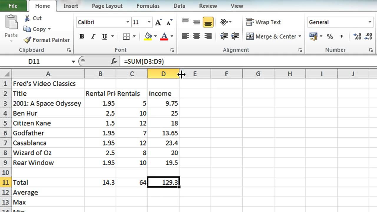 How To Make A Spreadsheet In Excel 2010 Printable