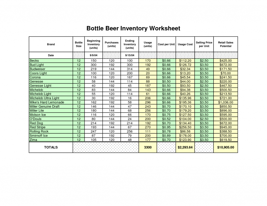 How To Make An Inventory Spreadsheet On Excel Inside