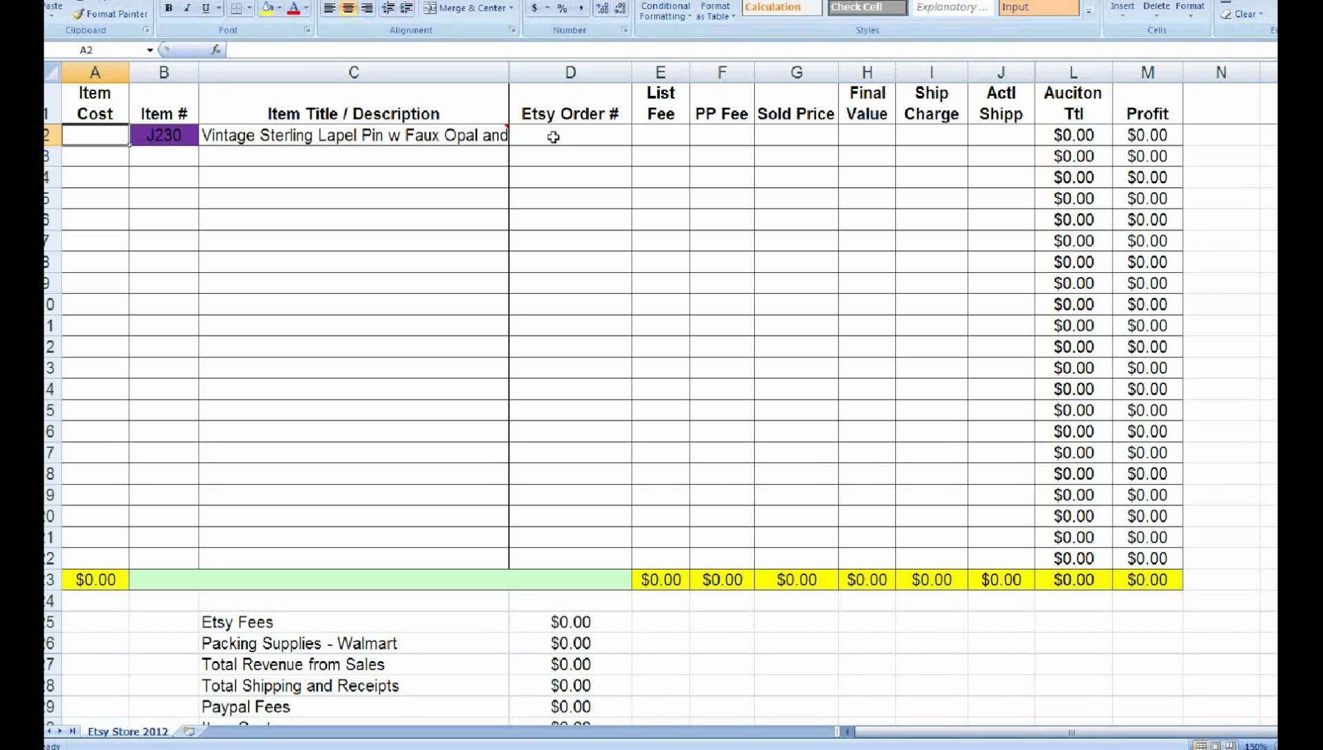 How To Make Inventory Spreadsheet On Excel For Small