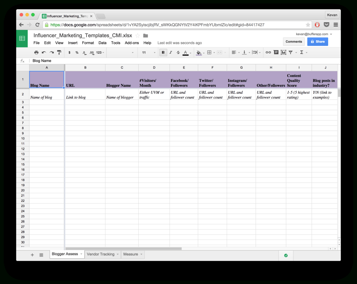 Html Spreadsheet Example For Email Marketing Report