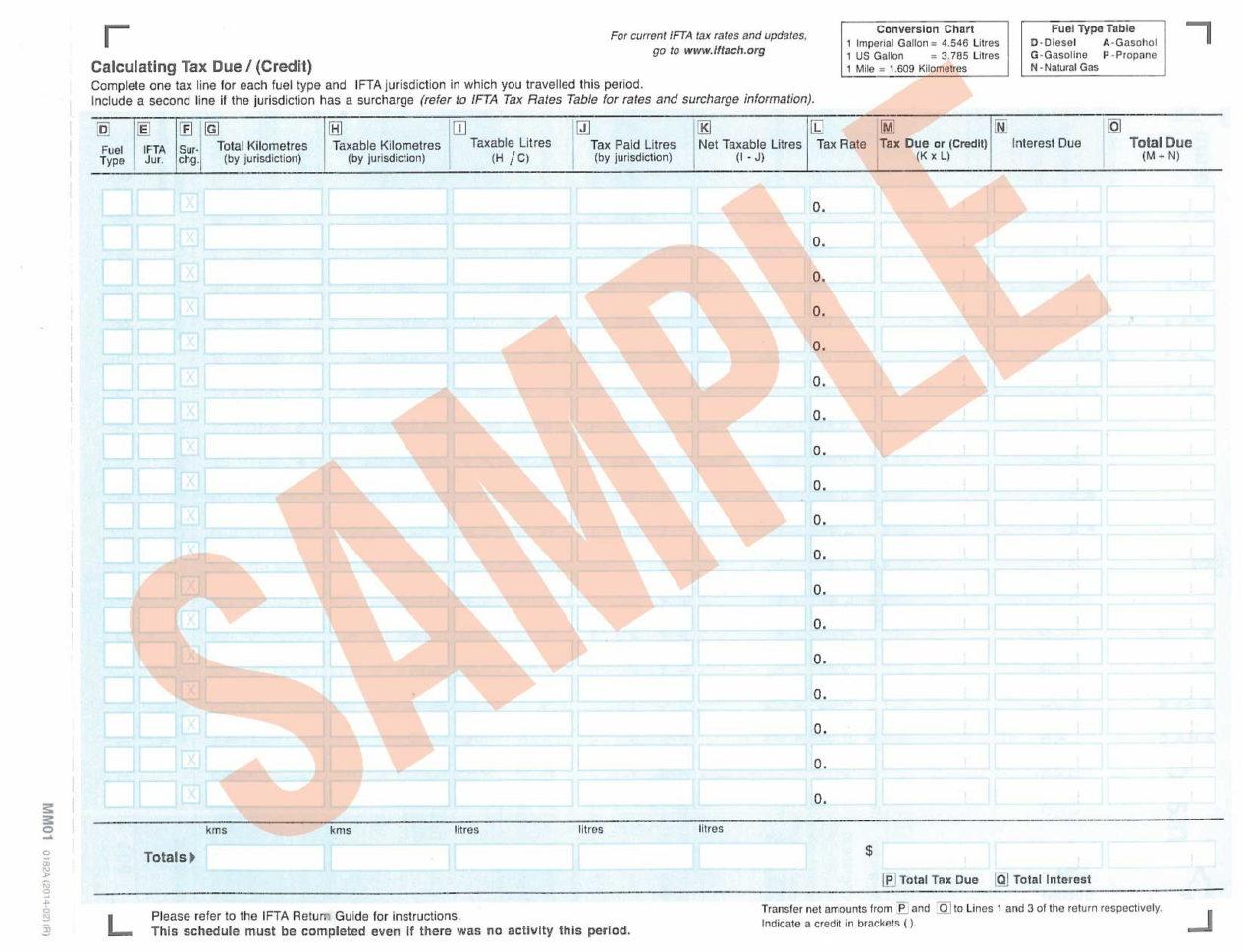 Tax Rate Worksheet