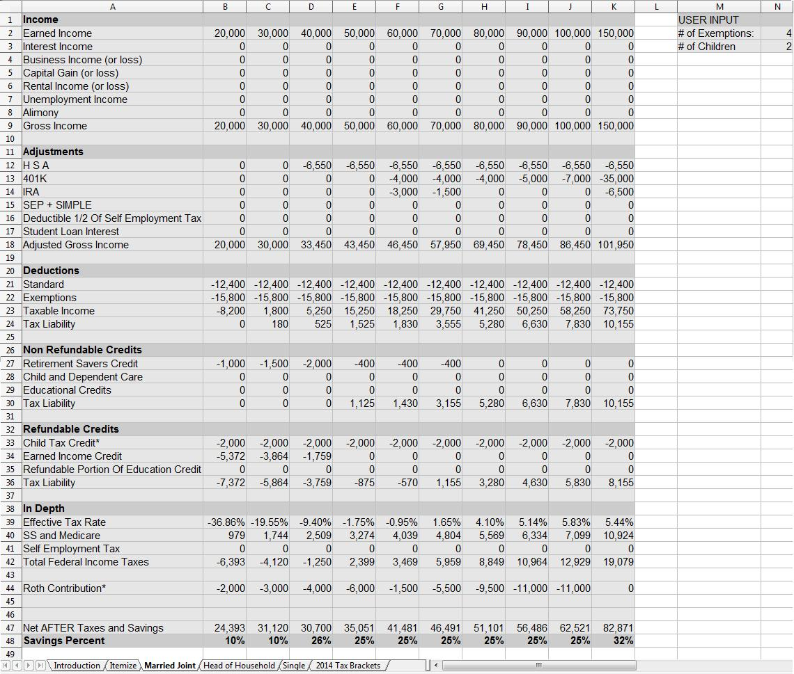 Income Tax Spreadsheet Canada Db Excel