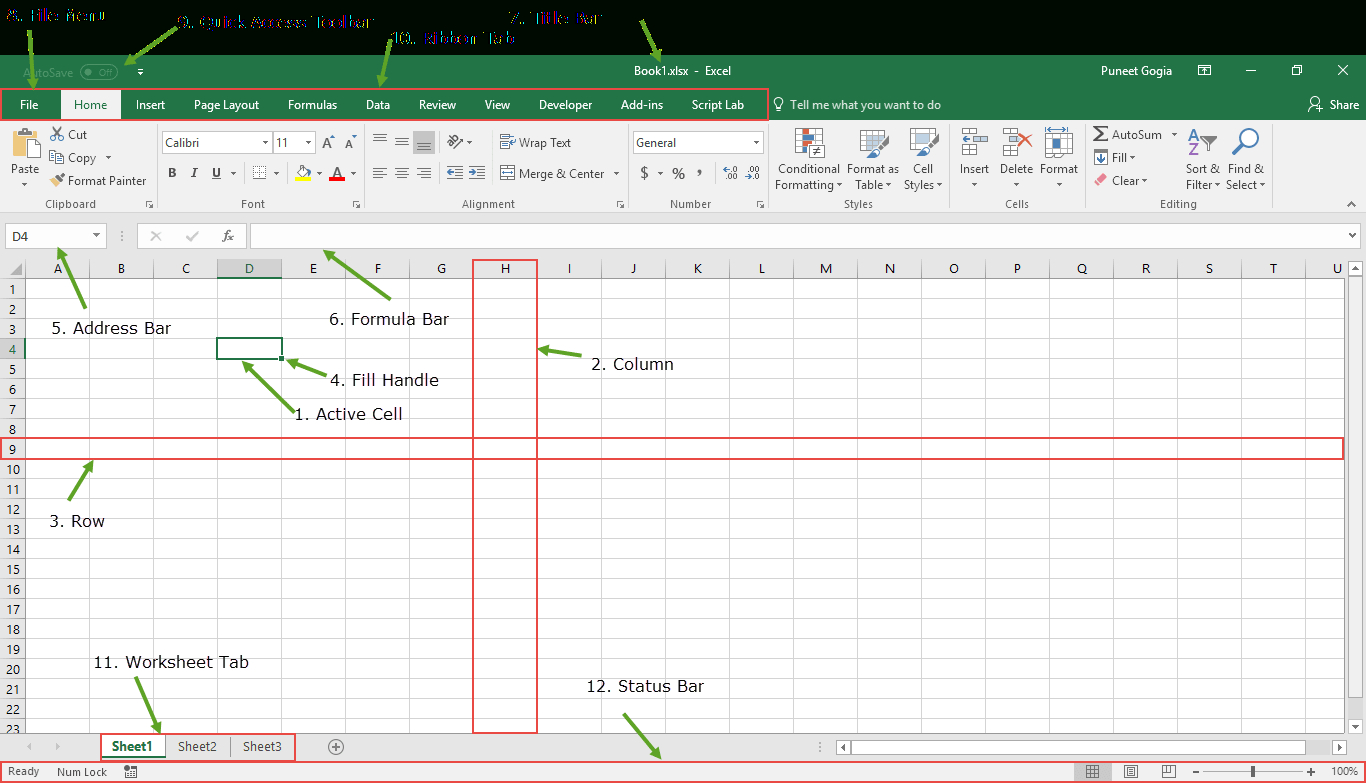 Introduction Of Spreadsheet In Ms Excel Db Excel