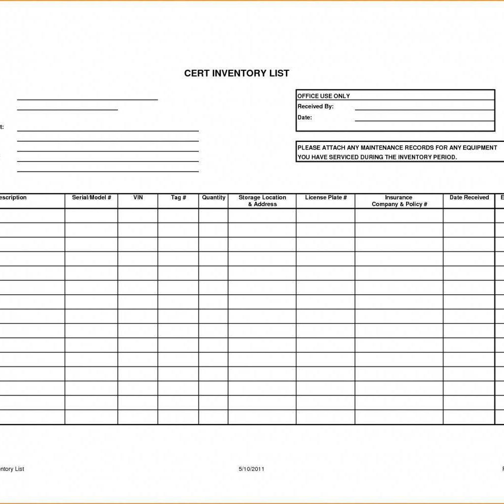 Inventory Control Excel Spreadsheet For Free Excel
