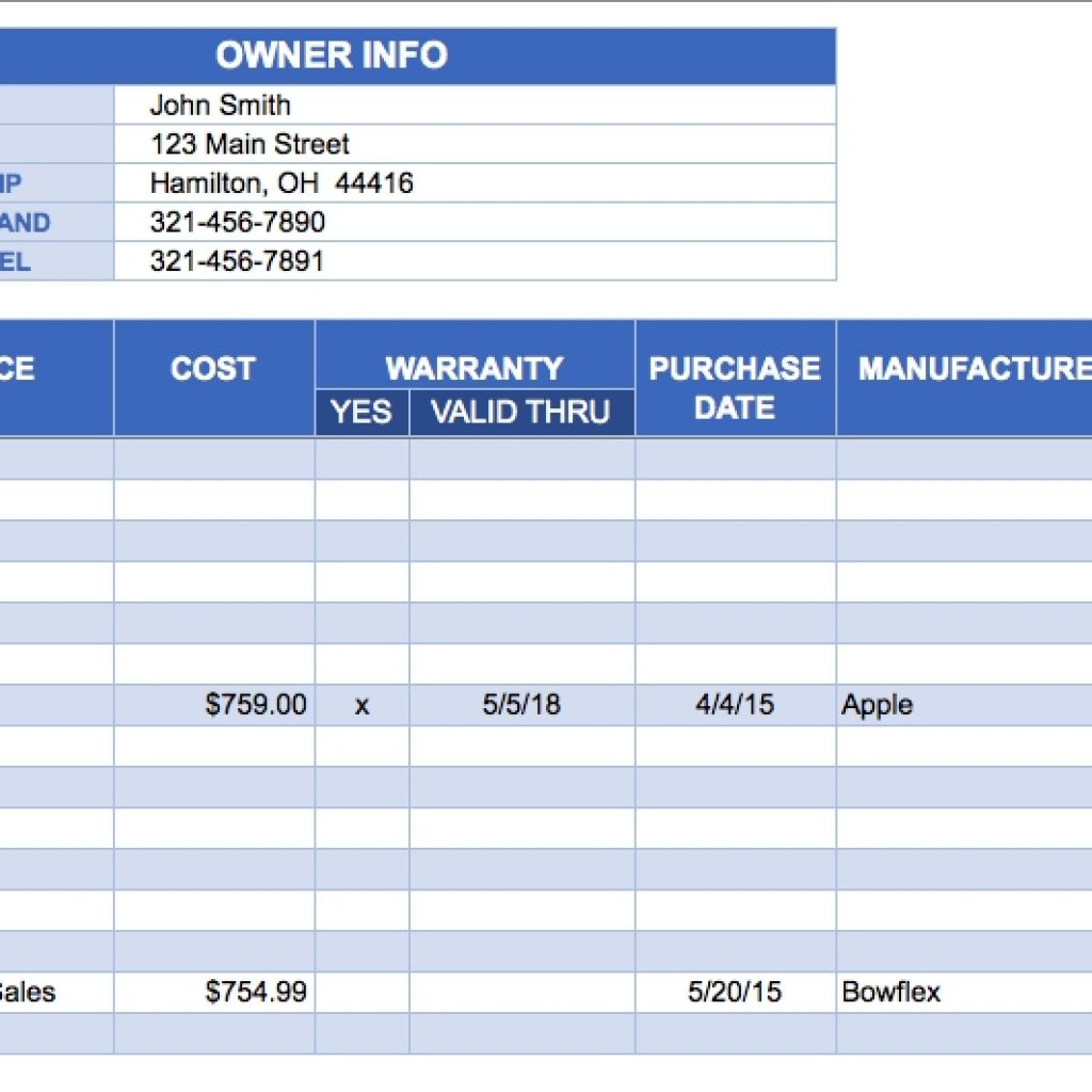 Inventory Ordering Spreadsheet Intended For Excel