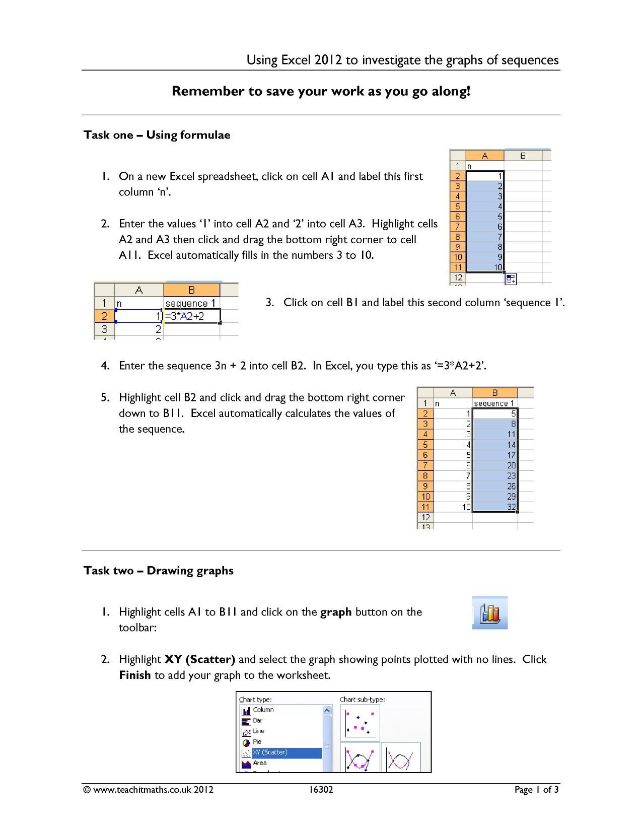 Ks3 Spreadsheet Worksheets For Rich Tasks For Ks3 4 Maths