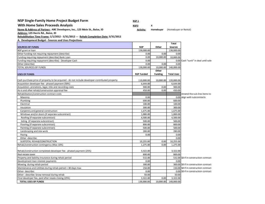 Machine Shop Estimating Spreadsheet With Regard To Construction Estimating Spreadsheet Example
