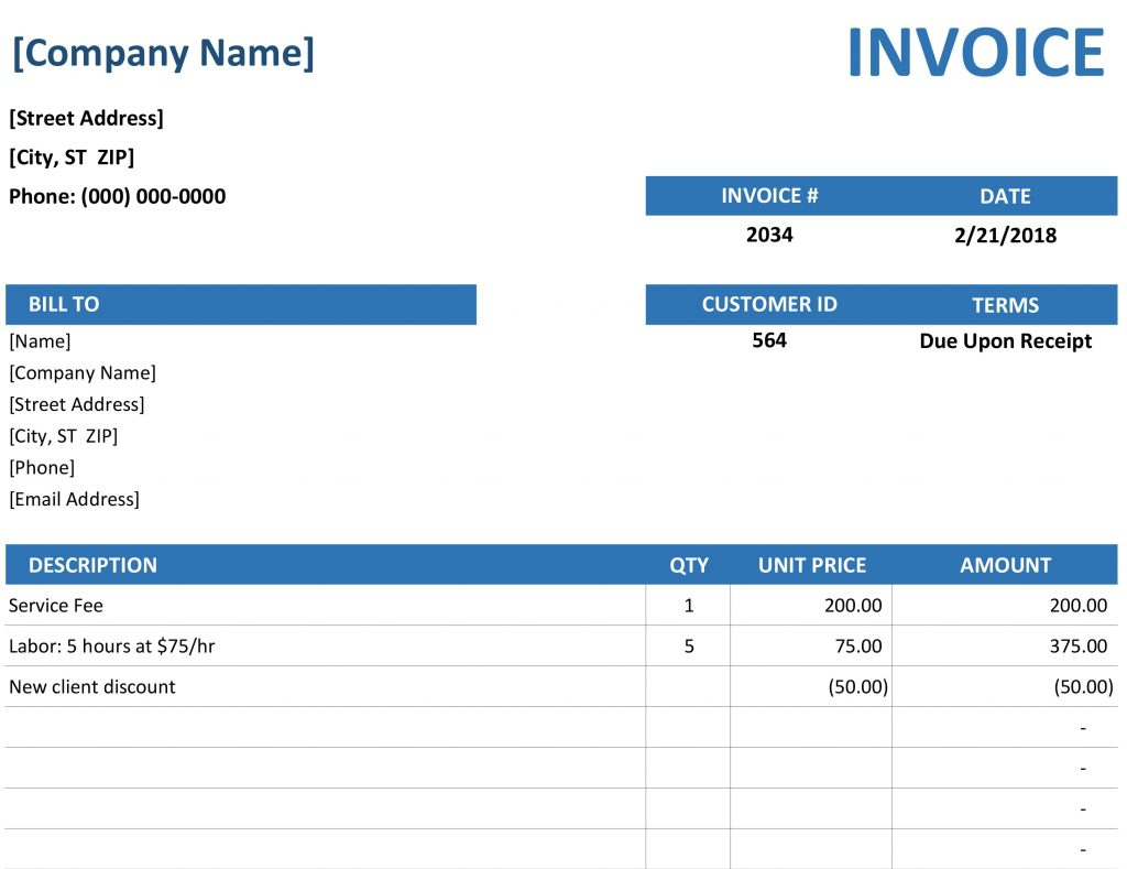 Macro Spreadsheet For Template For Invoice In Excel Uk