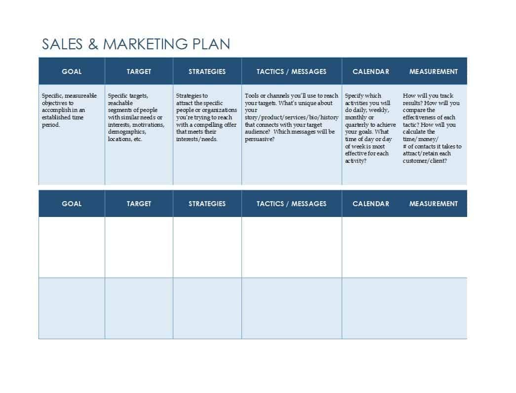 Marketing Plan Spreadsheet Spreadsheet Downloa Marketing