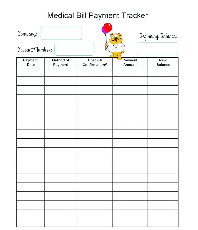 Medication Spreadsheet Organizer Within Medical Tracker