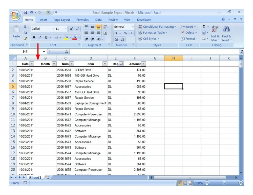 Microsoft Excel Spreadsheet Within Microsoft Excel Sample