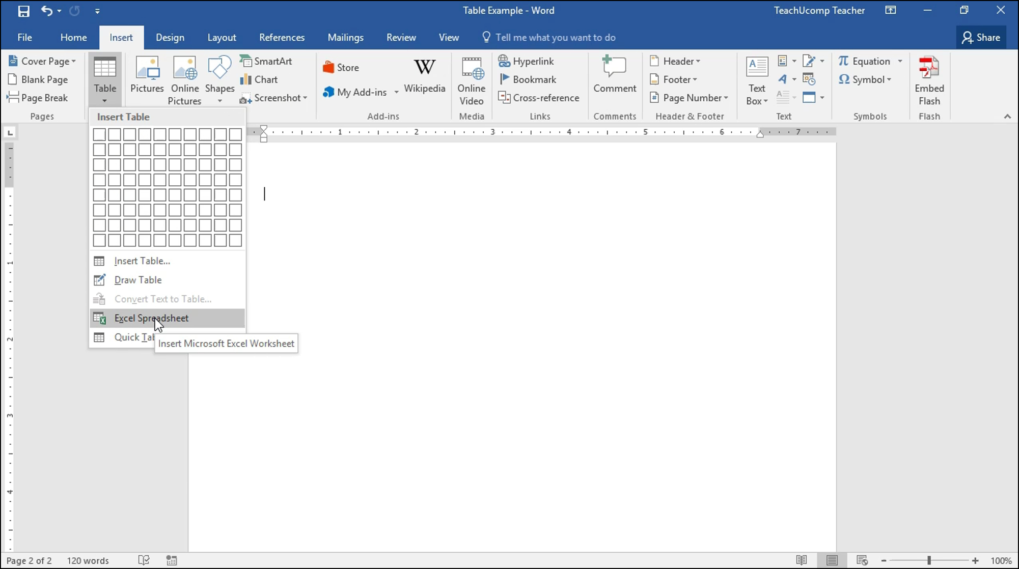 Microsoft Spreadsheet Tutorial With Insert An Excel