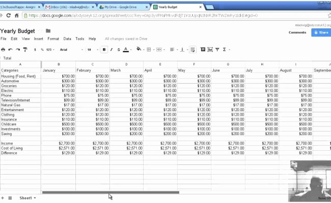 Simple Budget Template For Excel Google Docs Cute766