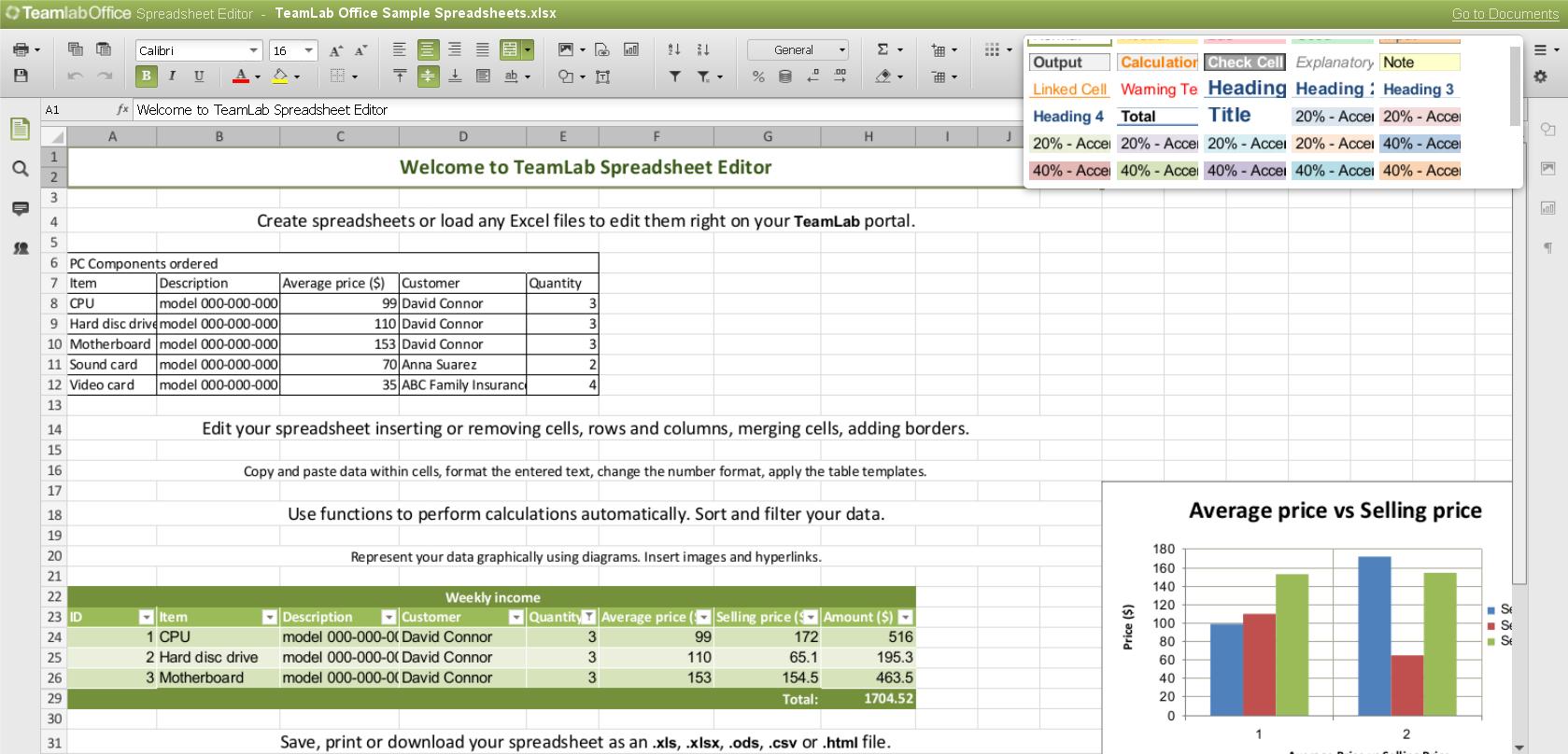 Online Spreadsheet Editor Db Excel
