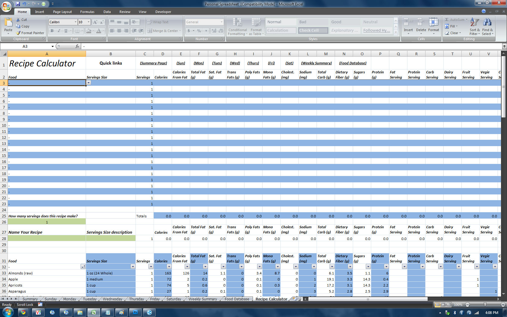 P90x Spreadsheet With P90x Workout Sheets Natural Buff Dog