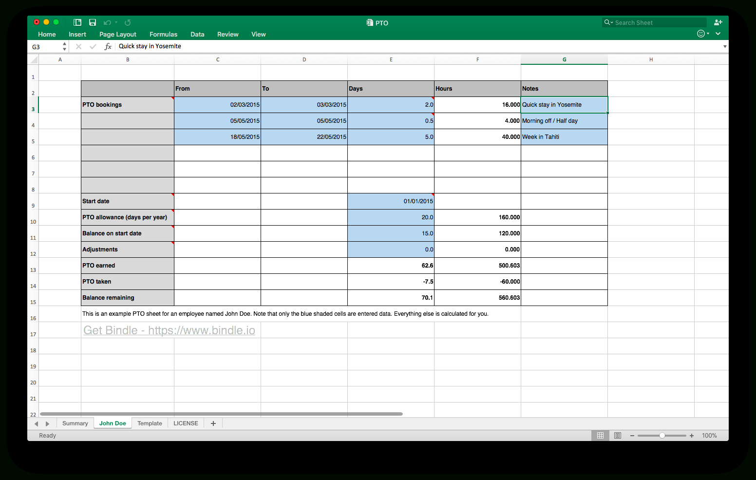 Paid Time Off Accrual Spreadsheet Spreadsheet Downloa Paid