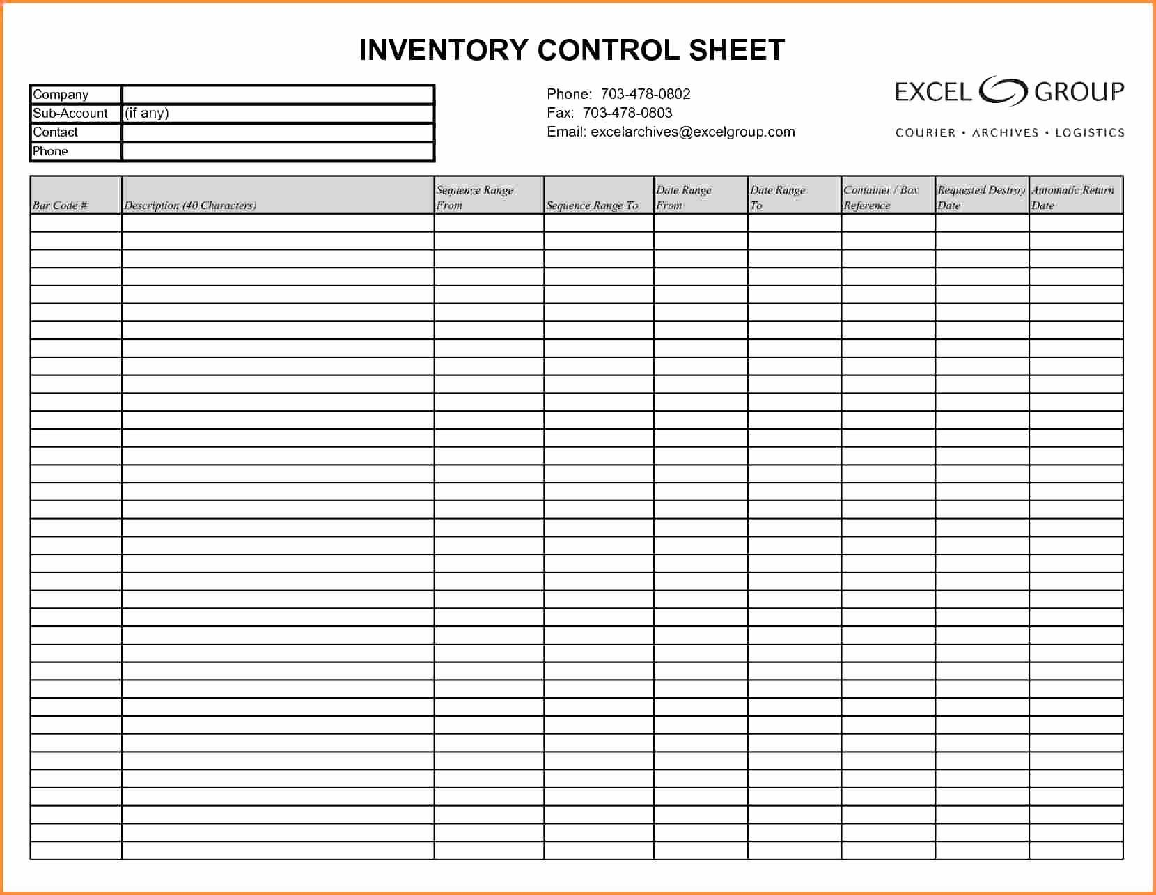 Personal Asset Inventory Spreadsheet Within Financial