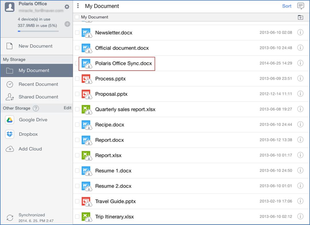 Polaris Office Spreadsheet Help inside Ipad