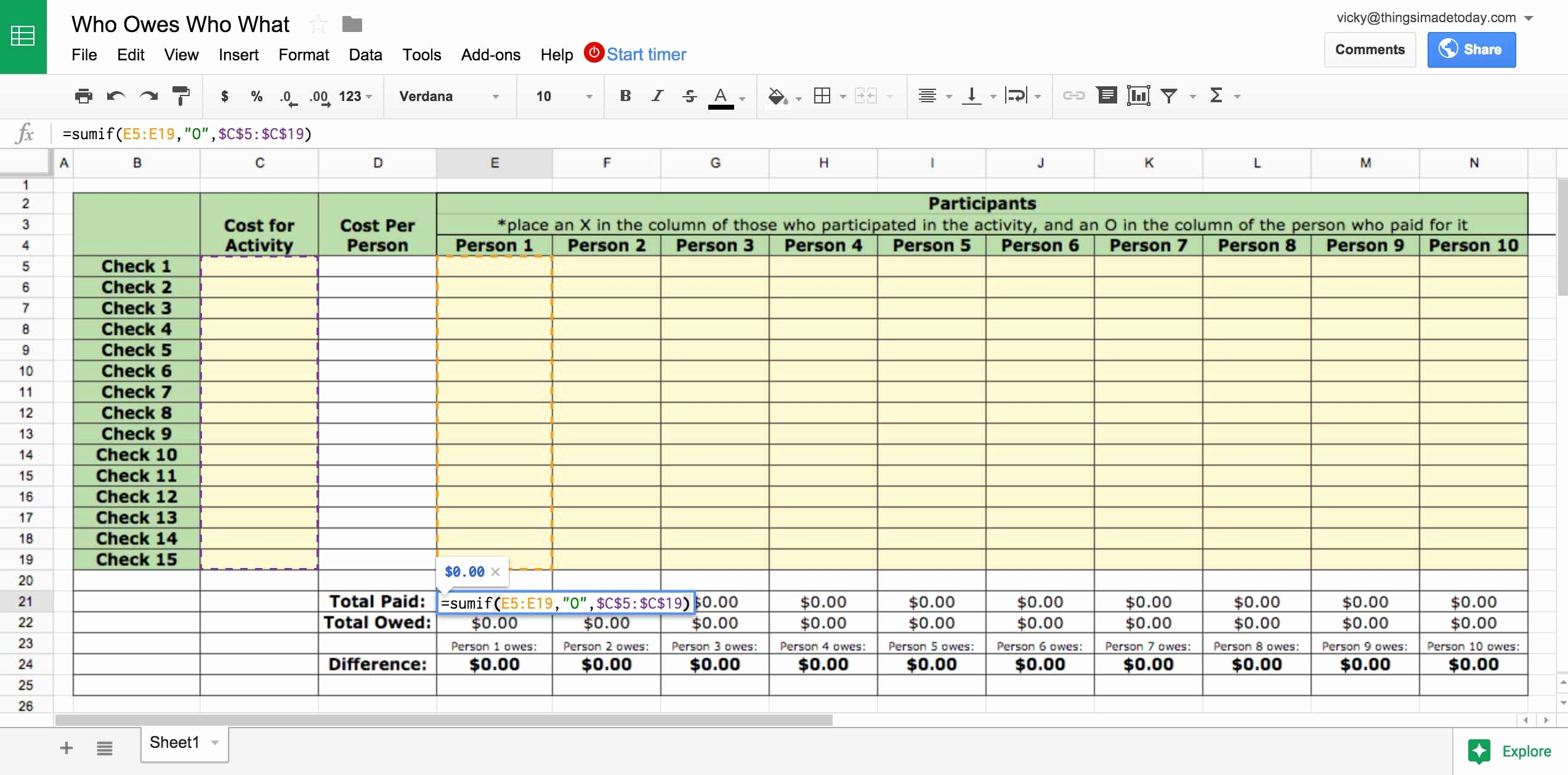 Pricing Spreadsheet Db Excel