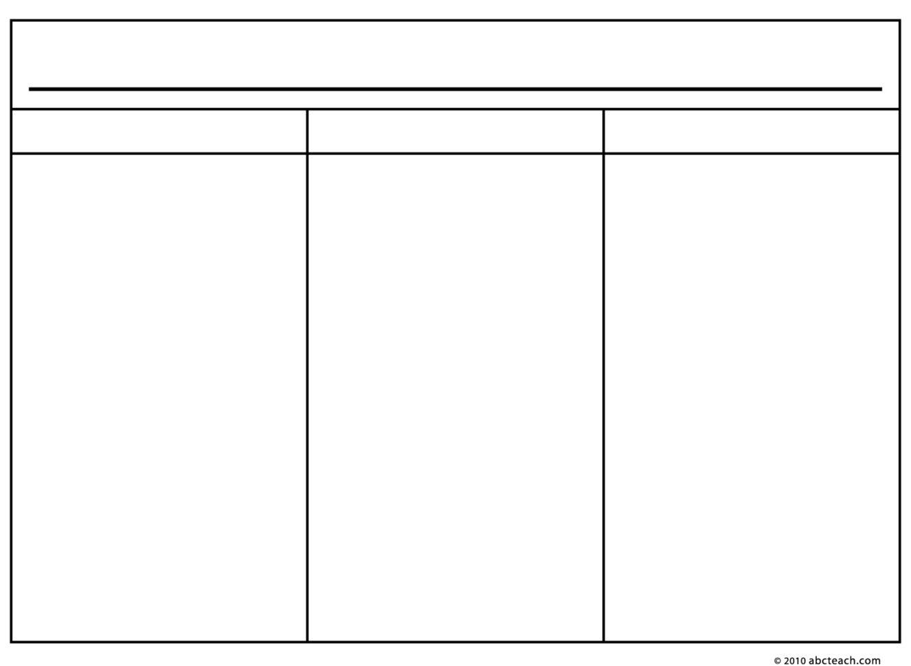Printable 3 Column Spreadsheet Printable Spreadshee