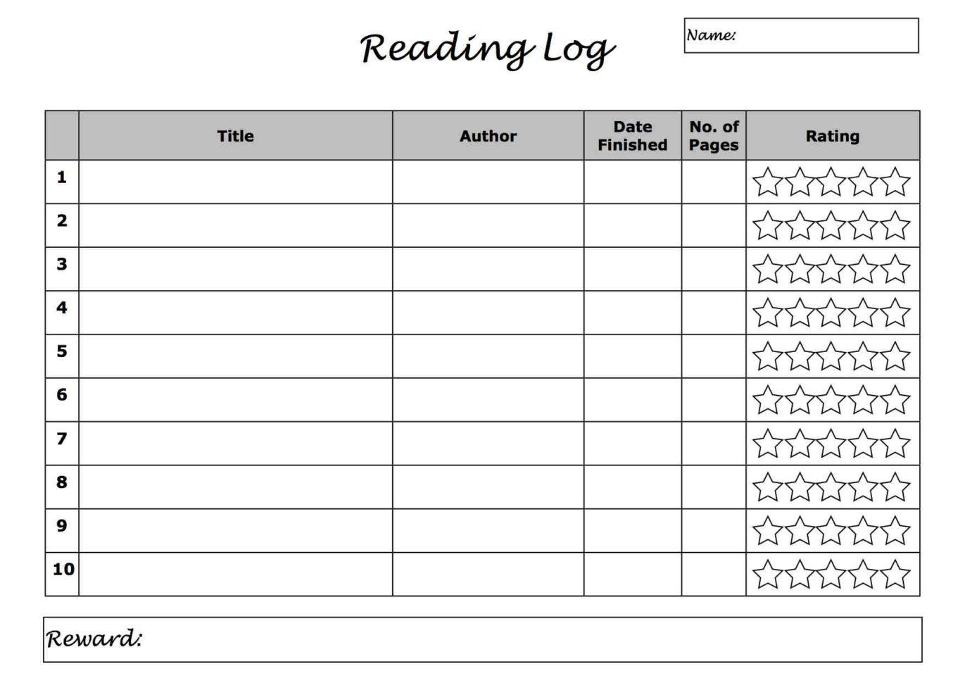 Reading Log Spreadsheet Spreadshee Reading Log