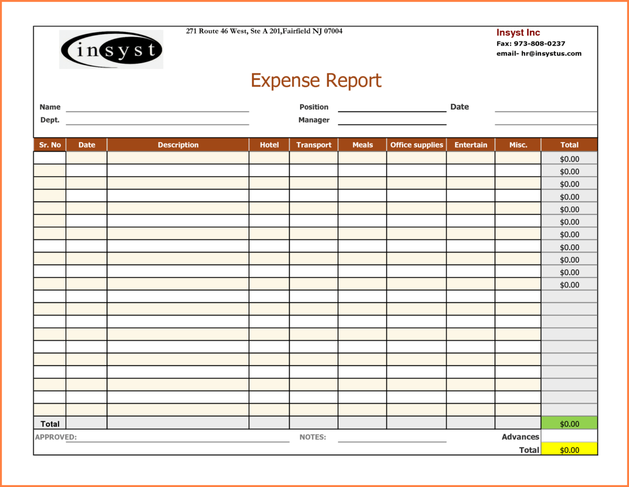 Real Estate Agent Expense Excel Spreadsheet Spreadsheet