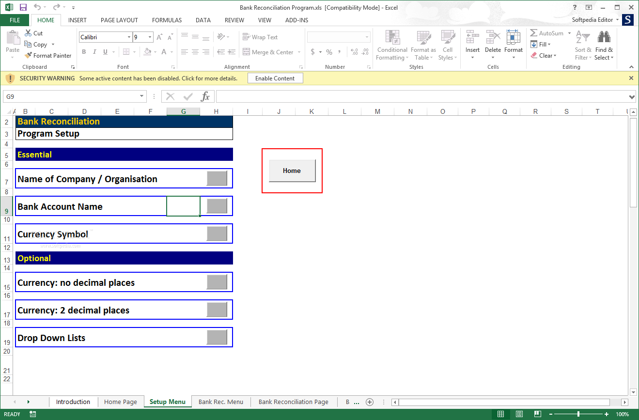 Reconciliation Excel Spreadsheet With Download Bank Reconciliation Program 2 02 Db Excel