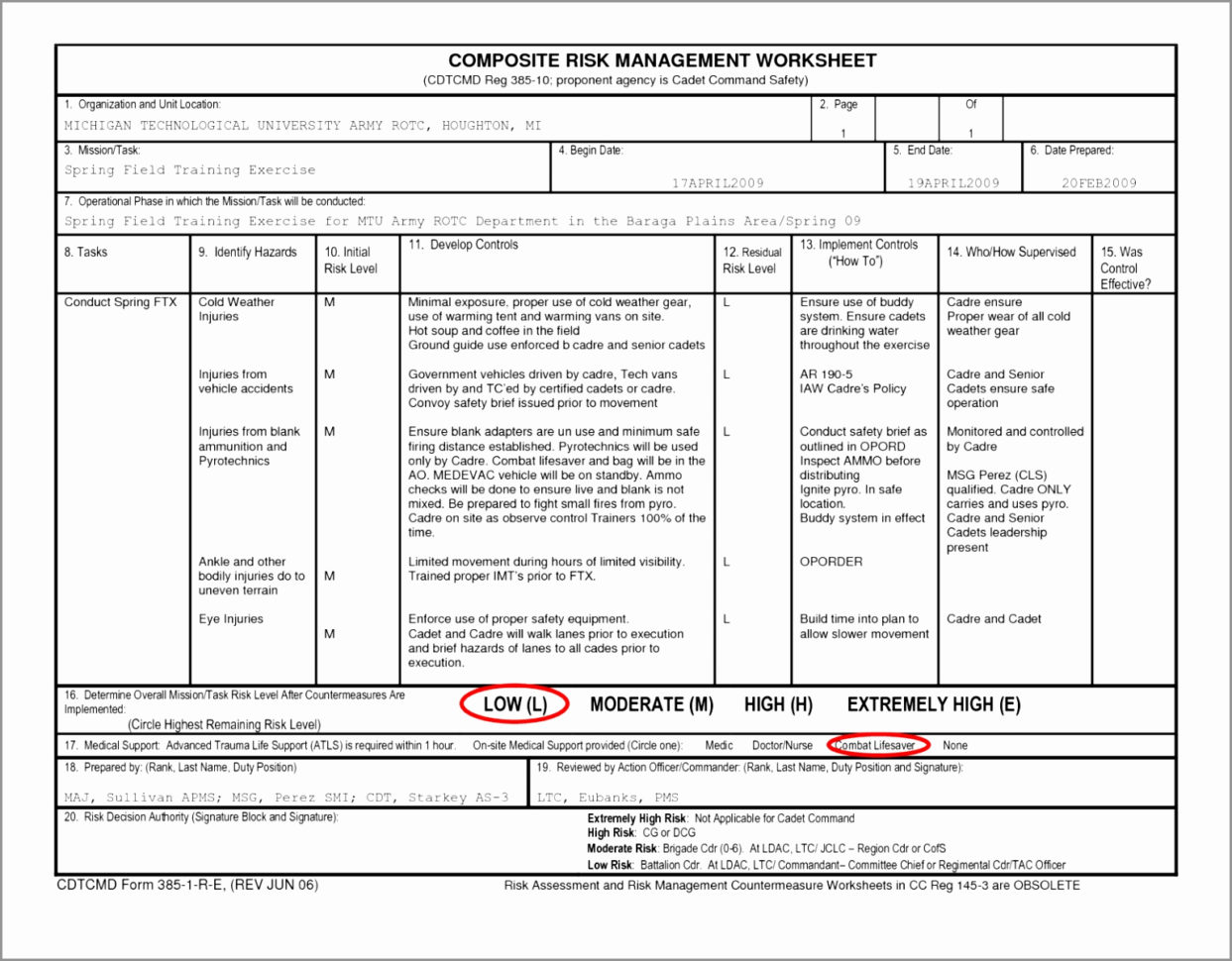 Risk Assessment Spreadsheet Spreadsheet Downloa Risk